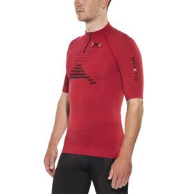 X-Bionic Trail Running Effektor Shirt Short Sleeves Zip-Up Men Paprika/Black